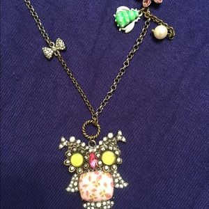 Betsy Johnson Owl necklace